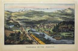 Currier & Ives Through the Pacific Lithograph