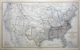 Civil War Era Map of the United States