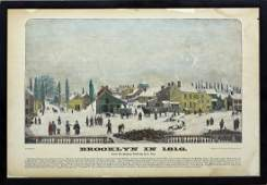 Four 19th century views of early New York & Brooklyn