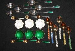 7 A Group of Six Norwegian Gilded Silver and Enameled