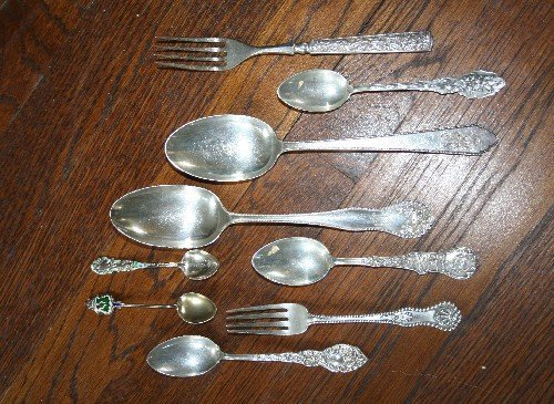 10: A Collection of Silver and Silverplate Flatware and