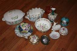 262 A Collection of 13 Continental Porcelain Articles