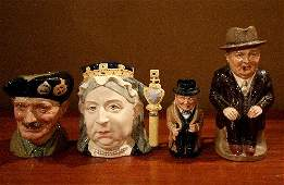 586: Four Royal Doulton Character Mugs, Height of talle