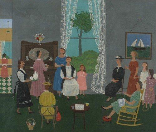 1: Doris Emrick Lee, (American, 1905-1983), The Sewing