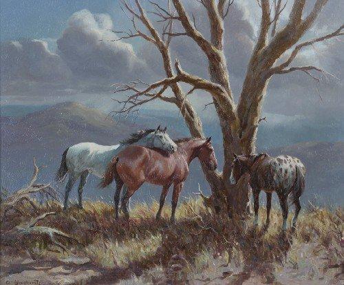 9: Olaf Wieghorst, (American, 1899-1975), Dead Cottonwo