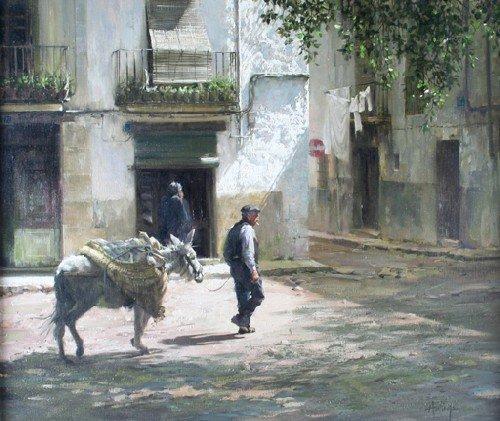 12: Clark Hulings, (American, b. 1922), Central Spain