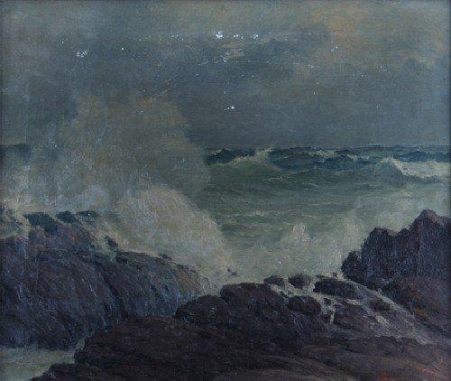 16: Leon Lundmark, (American, 1875-1942), Oceanscape