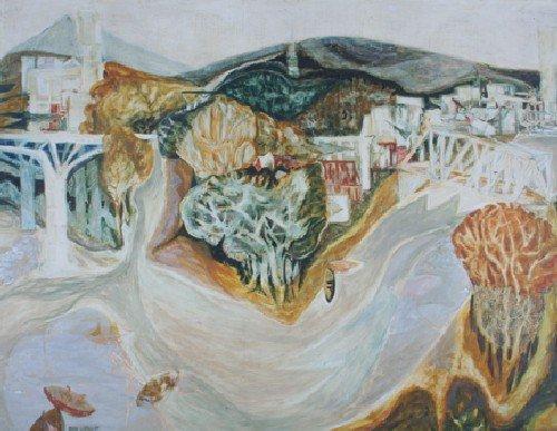 17: Ellen Lanyon, (American, b. 1926), Rock River