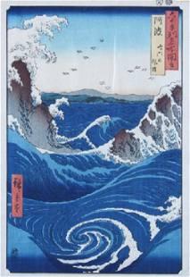 246: Ando Hiroshige, (Japanese, 1797-1858), Rough Sea a