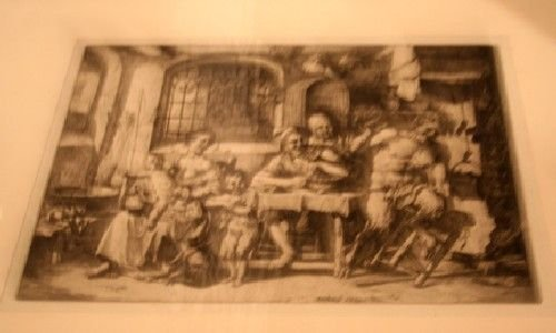 498: , , A Group of Thirteen etchings and drawing depic
