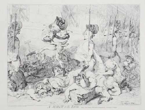 499: After James Gillray, , A Group of seven etchings i