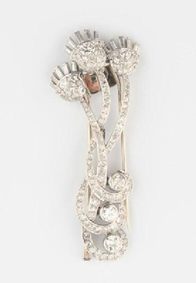 1: A Platinum and Diamond Brooch,