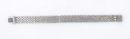 2: A 14 Karat White Gold Bracelet,