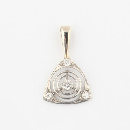 6: A White Gold and Diamond Pendant,