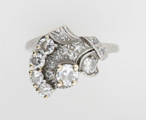 19: A Palladium and Diamond Ring, C.D. Peacock,