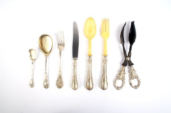 653: An Austro-Hungarian Part Silver Flatware Service,