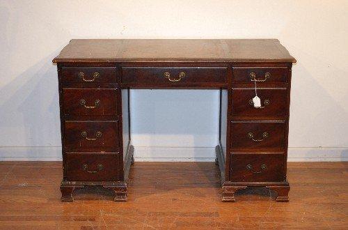 8: A Georgian Style Mahogany Double Pedestal Desk,