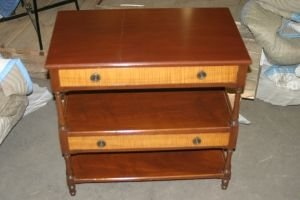 11: A Georgian Style Tiered Side Table, Height 23 1/2 x