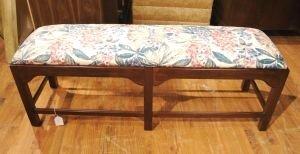 23: A Georgian Style Mahogany Bench, Height 19 x width