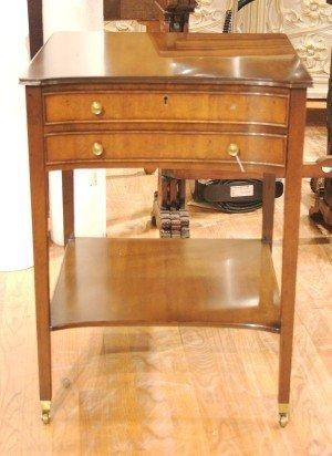 24: A Georgian Style Bedside Table, Kittinger, Height 2