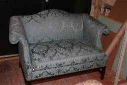 169 A Hickory Chair Co Upholstered Camelback Loveseat