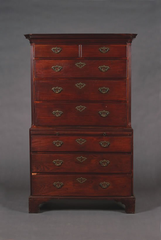 7: A George III Mahogany Chest on Chest,