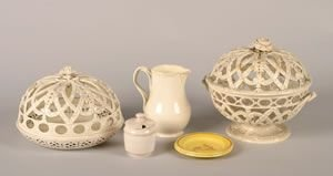 552: A Group of Four Creamware Pieces,