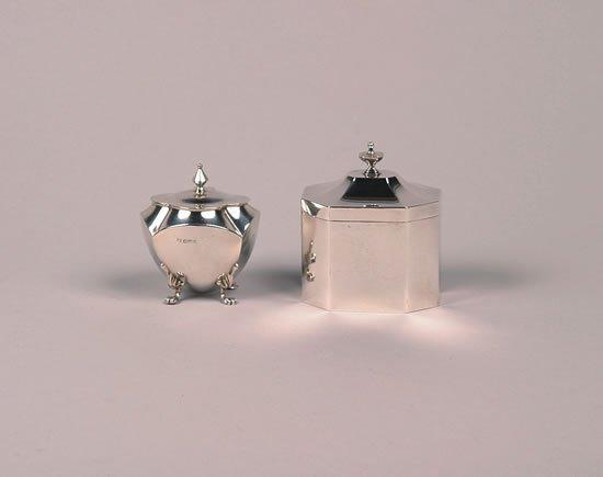 623: An Edward VII Silver Tea Caddy, Maker's Mark SI, L
