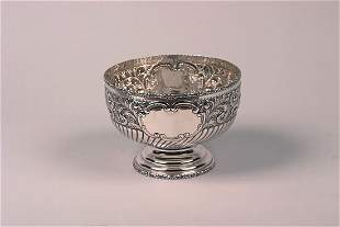 An Edward VII Silver Center Bowl, Maker's Mark WCK