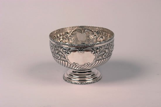 624: An Edward VII Silver Center Bowl, Maker's Mark WCK