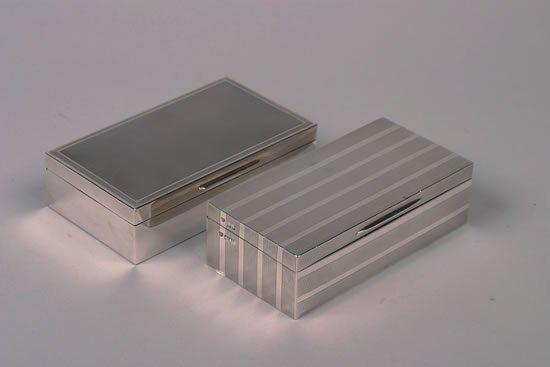 An Edward VII Silver Cigarette Box, Goldsmiths & S