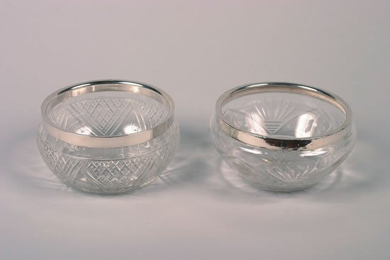 633: An Edward VII Silver Mounted Cut Glass Bowl, Maker