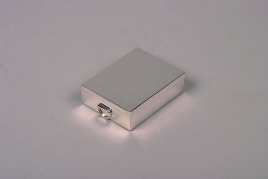 634: An Edward VII Silver Playing Card Box, TC & Son, L