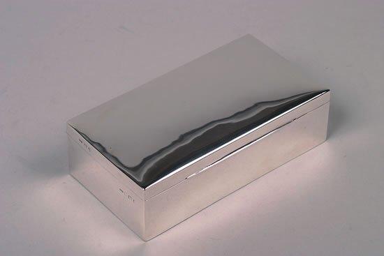 635: An Edward VII Silver Cigar Box, Maker's Mark CV &