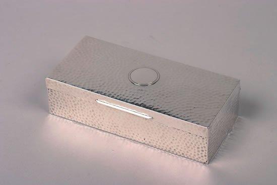 637: An Edward VII Silver Cigar Box, William Comyns & S