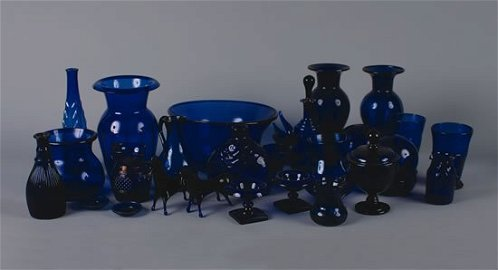 1142: A Group of Cobalt Blue Table Articles,