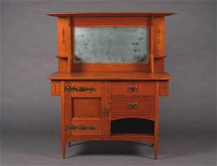 An English Arts & Crafts Oak Sideboard,