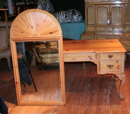 3: A Pine Chippendale Desk, Height 29 1/2 inches.