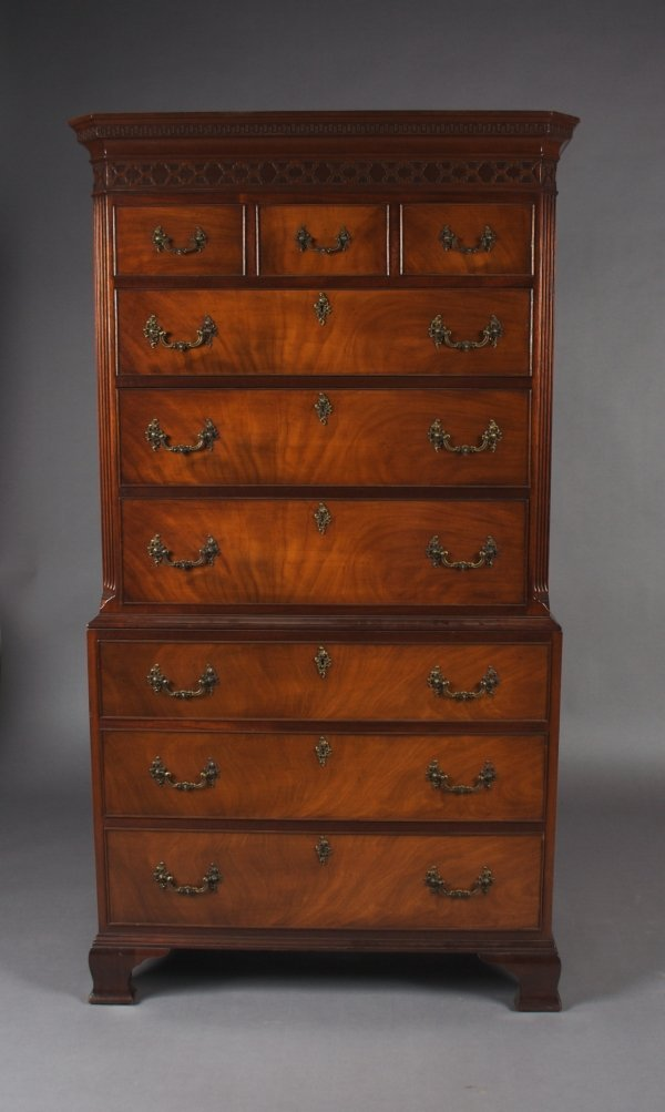 4: An American Chippendale Style Mahogany Chest on Ches