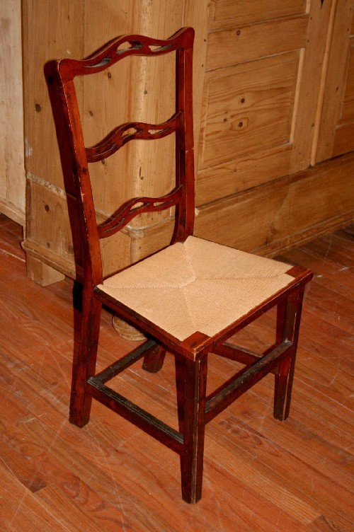 5: A Chippendale Style Ribbon Back Chair, Height 38 inc