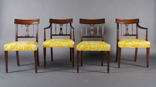 7: A Set of Eight Regency Style Mahogany Dining Chairs,