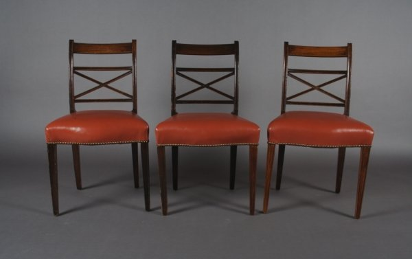 15: A Set of Ten Regency Style Dining Chairs, Height