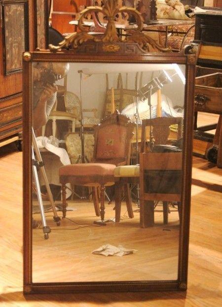 21: A Georgian Style Parcel Gilt Mahogany Mirror, Heigh