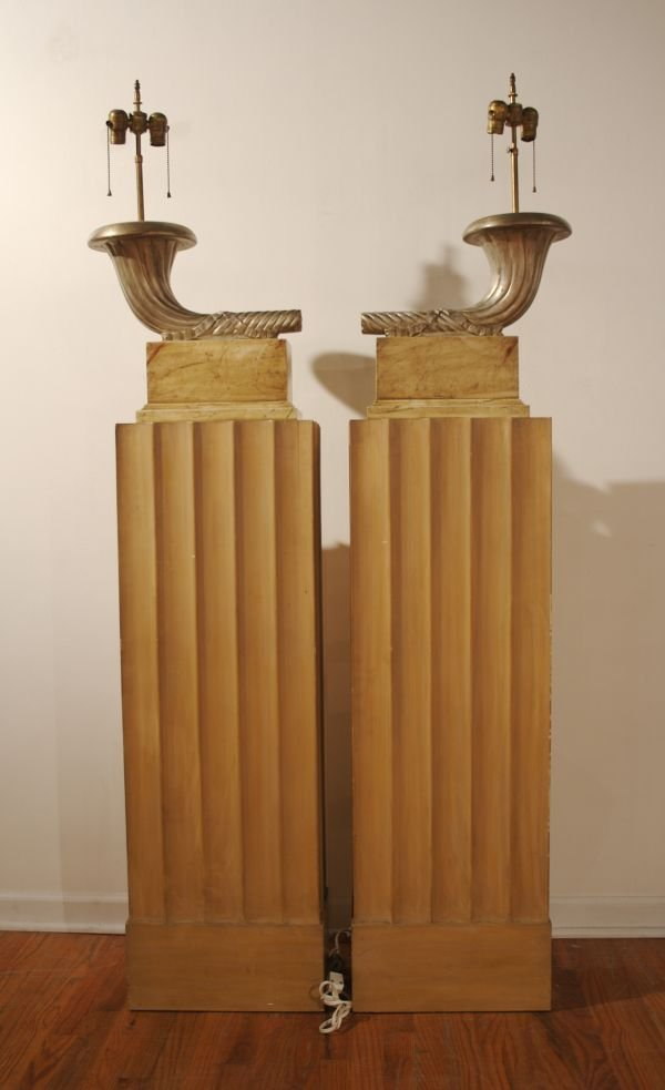 147: A Pair of Art Deco Style Torcheres, Height overall