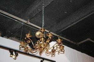 503: A Pair of Dutch Baroque Style Brass Eight Light Ch