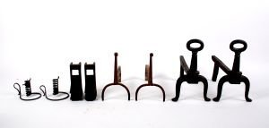 505: Two Pairs of Cast Iron Andirons,