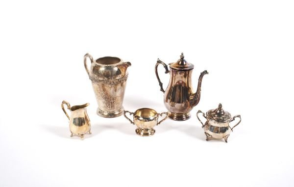 507: An Assembled Silverplate Tea and Coffee Service, H