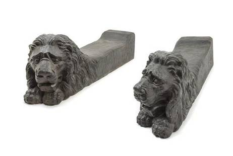 A Pair of Italian Iron Andirons