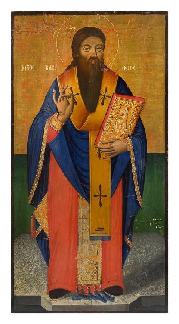 A Pair of Eastern European Ecclesiastical Painted - 2