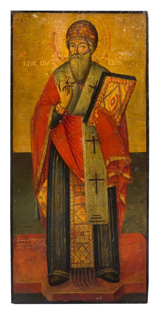 A Pair of Eastern European Ecclesiastical Painted - 3